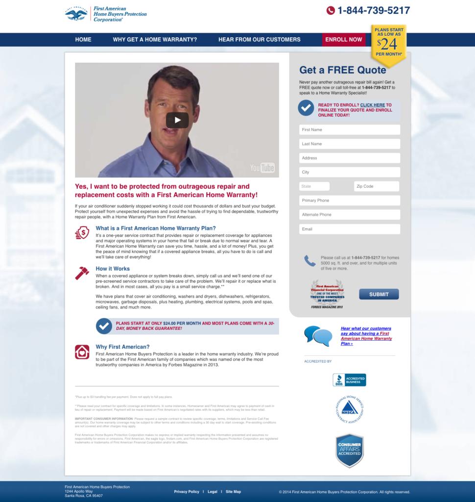 First American Home Warranty Mathew Graham